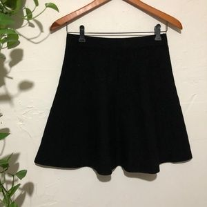 Zara Basic Knit Black Skater Skirt Size Small.